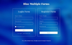 Blue Multiple Forms a Flat Responsive Widget Template