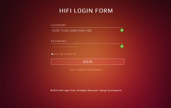 Hifi Login Form Flat Responsive widget Template