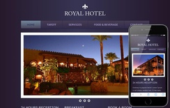 Hotel Royal WebTemplate and Mobile WebTemplate for free