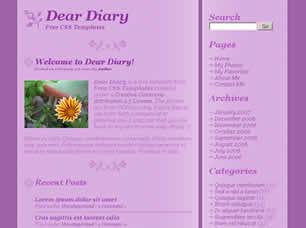 Dear Diary Free CSS Template
