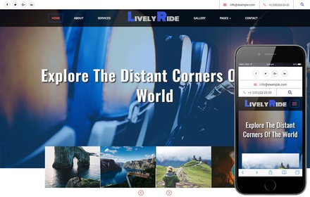 Lively Ride Travel Category Flat Bootstrap Responsive Web Template