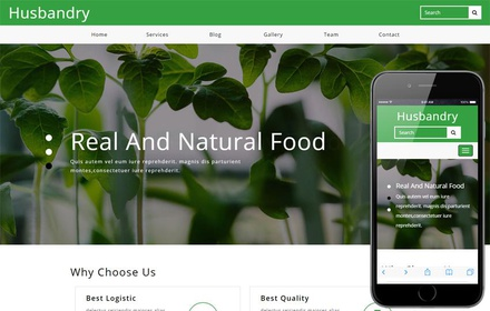 Husbandry Agriculture Category Bootstrap Responsive Web Template