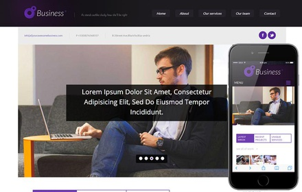 Business Corporate Responsive web template