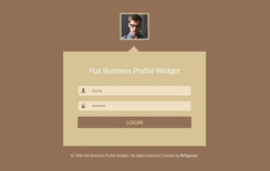 Flat Business Profile Widget Responsive Template