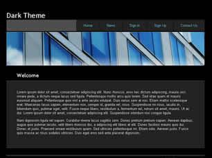 Dark Theme Free CSS Template