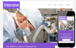 Intensive Hospital Mobile Website Template
