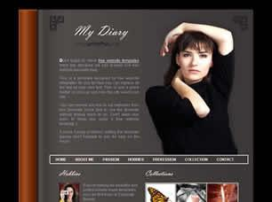 My Diary Free CSS Template
