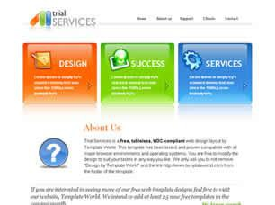 Trial Services Free CSS Template