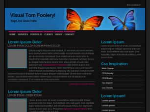 Visual Tom Foolery Free CSS Template