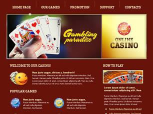 Online Casino Free CSS Template