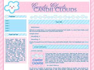 Candii Clouds Free CSS Template