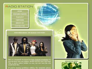 Radio Station Free CSS Template