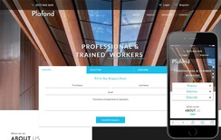 Plafond an Exterior Category Bootstrap Responsive Web Template