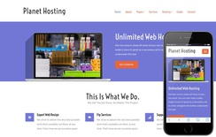 Planet Hosting a Web Hosting Flat Bootstrap Responsive Web Template