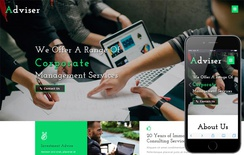 Adviser Corporate Category Bootstrap Responsive Web Template