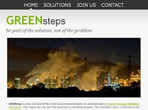 GREENsteps Free CSS Template