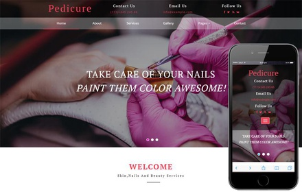 Pedicure Beauty Category Bootstrap Responsive Web Template