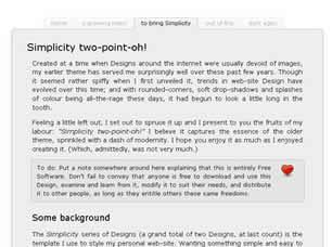 Simplicity two-point-oh! Free CSS Template