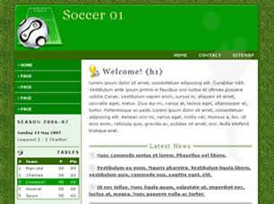 Soccer 01 Free CSS Template