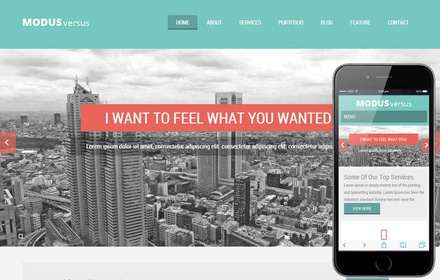 Modus Versus a Multipurpose Flat Bootstrap Responsive web template