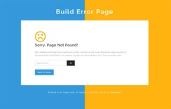 Build Error Page Flat Responsive Widget Template