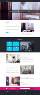 Interiors a Interior Design Category Bootstrap Responsive Website Template