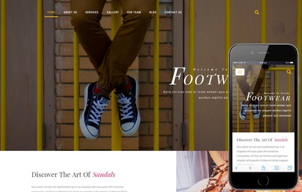 Footwear a Fashion Category Bootstrap Responsive Web Template