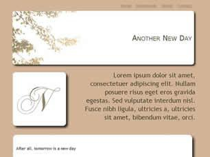 Another New Day Free CSS Template
