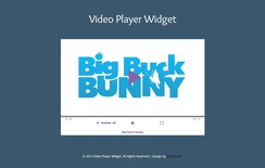 Video Player Responsive Widget Template