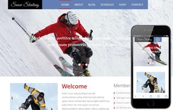 Snow Skating a Sports Category Flat Bootstrap Responsive web template