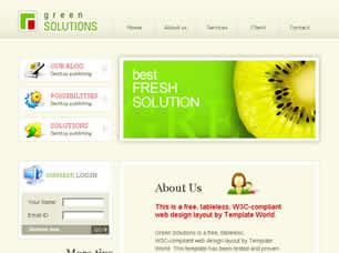 Green Solutions Free CSS Template