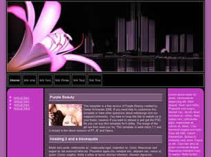 Purple Beauty Free CSS Template