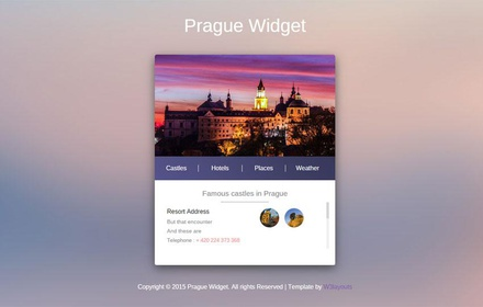 Prague City Responsive Widget Template