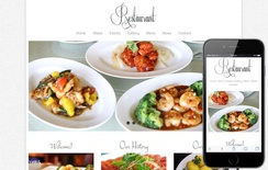 Free Floral Restaurant webtemplate and mobile webtemplate for hotels