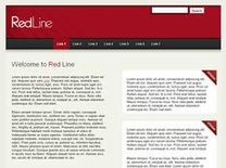 Red Line Free CSS Template