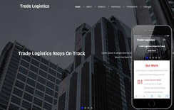 Trade Logistics A Corporate Category Flat Bootstrap Responsive  Web Template