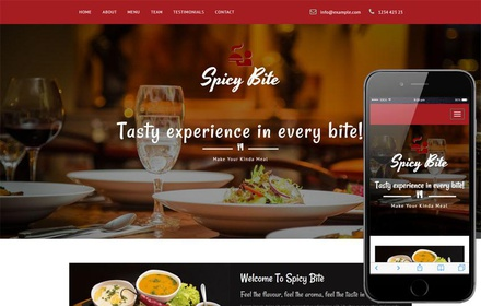 Spicy Bite a Restaurant Category Bootstrap Responsive Web Template