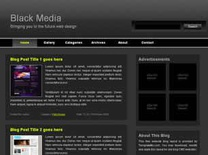 Black Media Free CSS Template