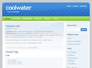 CoolWater 1.0 Free CSS Template