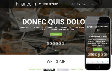 Finance In a Banking Category Bootstrap Responsive Web Template
