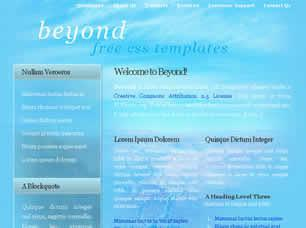 Beyond Free CSS Template