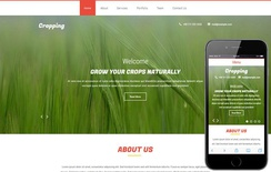 Cropping a Agriculture Flat Bootstrap Responsive web Template