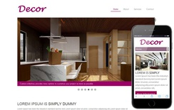 Decor a interior architects Mobile Website Template