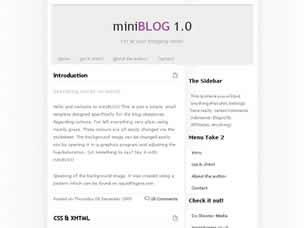 miniBLOG Free CSS Template