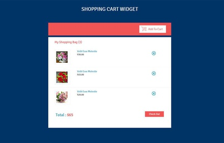 Shopping Cart Responsive Widget Template