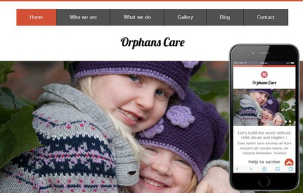 Orphans Care Charity Category Flat Bootstrap Responsive Web Template