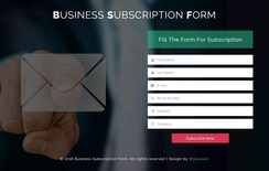 Business Subscription Form a Flat Responsive Widget Template