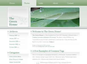 The Green House Free CSS Template