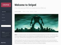 Striped Free CSS Template