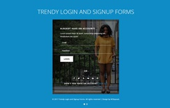 Trendy Login and Signup Forms Responsive Widget Template